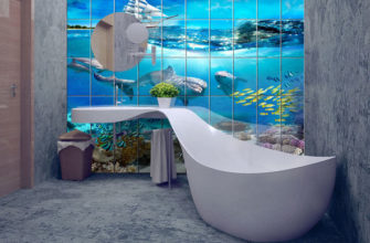Плитка в ванной комнате: дизайн интерьеров и фото